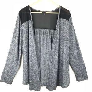 Sweaters - TORRID Open Front Sheer Shoulder Cardigan Size 3